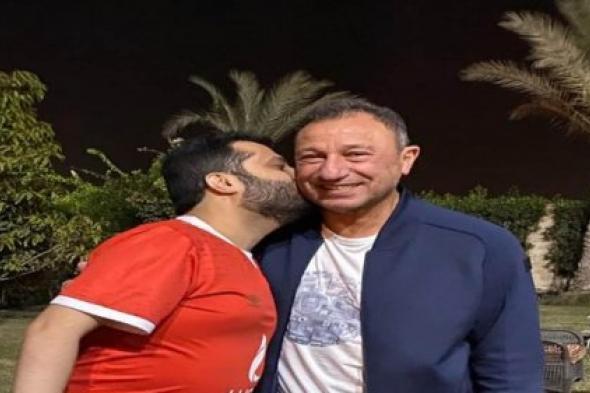 تركي آل الشيخ يزور محمود الخطيب رئيس الأهلي في منزله