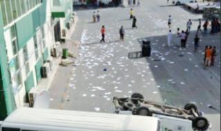 شاهد.. انتفاضة عمال ملاعب كأس العالم بقطر