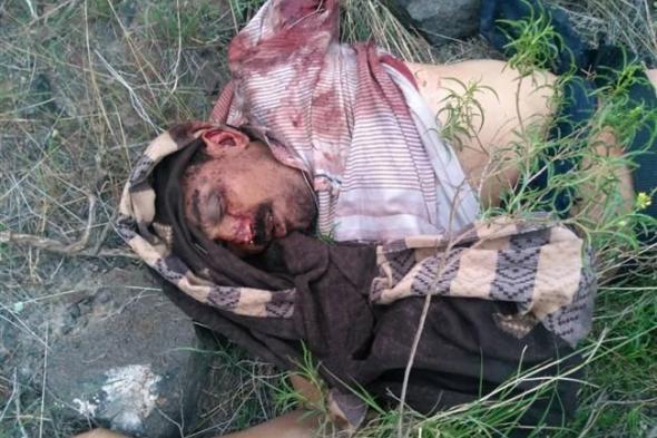 شاهد اول صورة لقائد مليشيا الحوثي بدمت هشام الغرباني الذي قتل في معارك اليوم