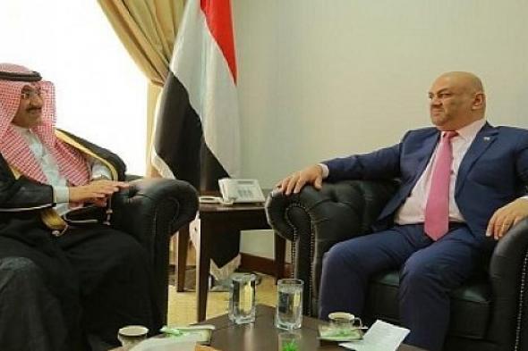 اليماني يلتقي السفير السعودي آل جابر