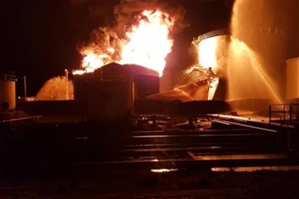 مصافي عدن تعلق على الحريق الذي اندلع في احد خزانات الوقود