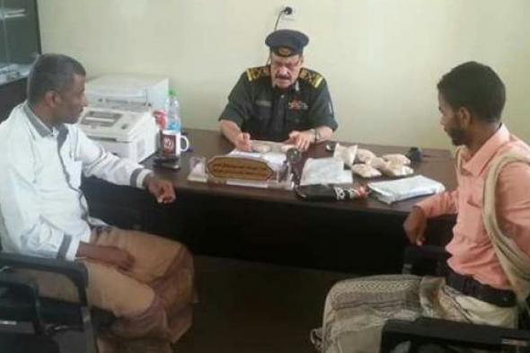 وكيل وزارة الداخلية لشؤون المحافظات الشرقية في زيارة تفقدية لإدارة مكافحة المخدرات بحضرموت الساح