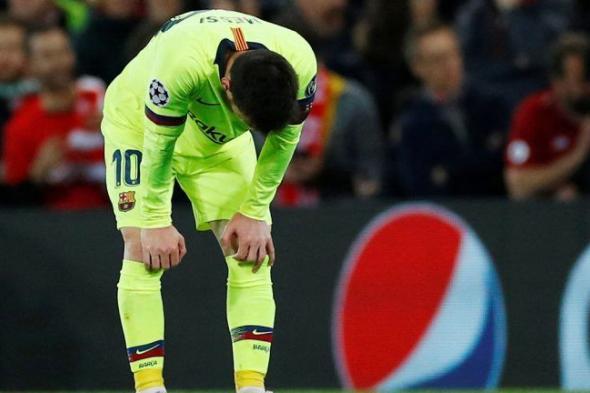 """شاهد ..أول رد فعل مؤثر للاسطورة """" ميسي """" بعد زلزال ملعب """" انفيلد """" وتأهل ليفربول التاريخي ( صورة)"""