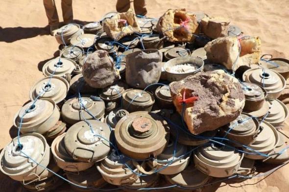 """مسروع """"مسام"""" ينتزع 1.077لغماً زرعتها مليشيا الحوثي الانقلابية"""