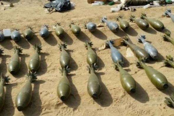 زروق مجهول الهوية على متنه أسلحة وذخائر قبالة سواحل مقاطين بأبين
