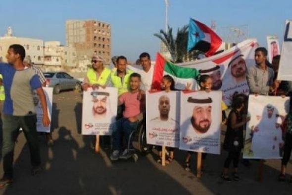 مظاهر الحب والتأييد تطوق الإمارات بالمحافظات المحررة